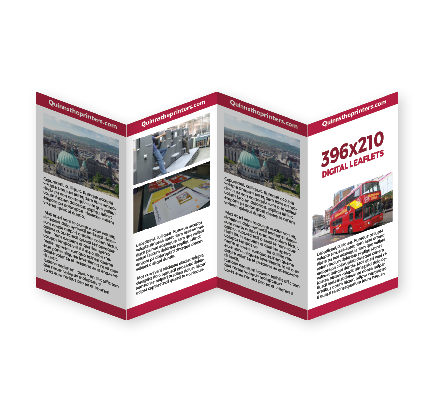 396x210mm Digital Leaflet Printing