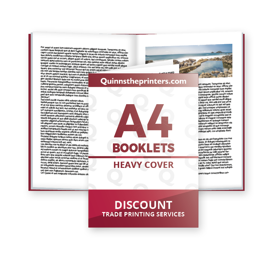 A4 Booklets Heavy Cover Gloss Laminated Printing