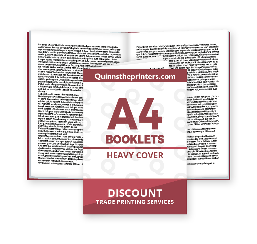 A4 Booklets Heavy Cover Matt Laminated Printing