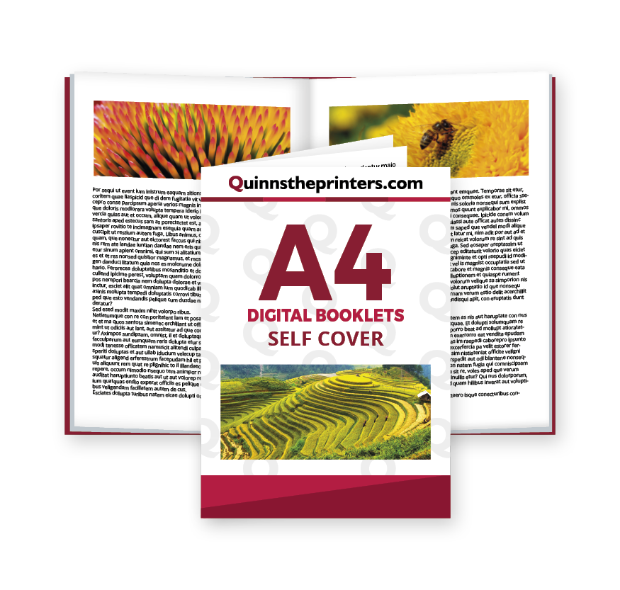 A4 Digital Booklets Self Cover Printing