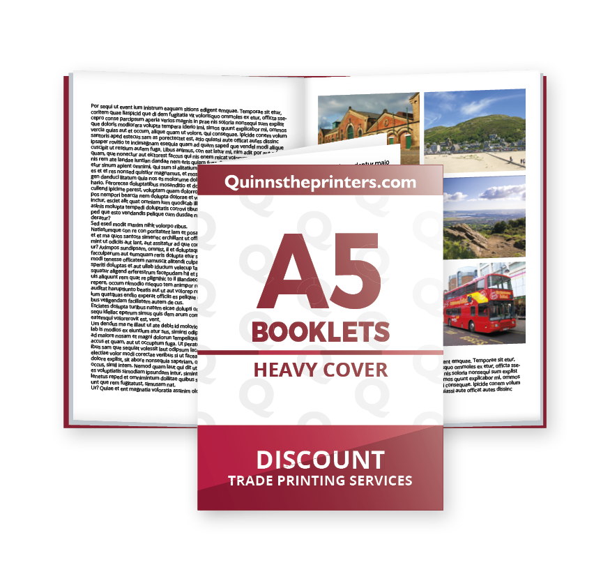A5 Booklets Heavy Cover Gloss Laminated Printing