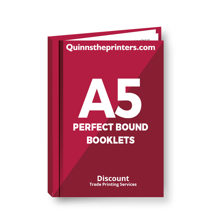 A5 Perfect Bound Booklets Heavy Cover Printing