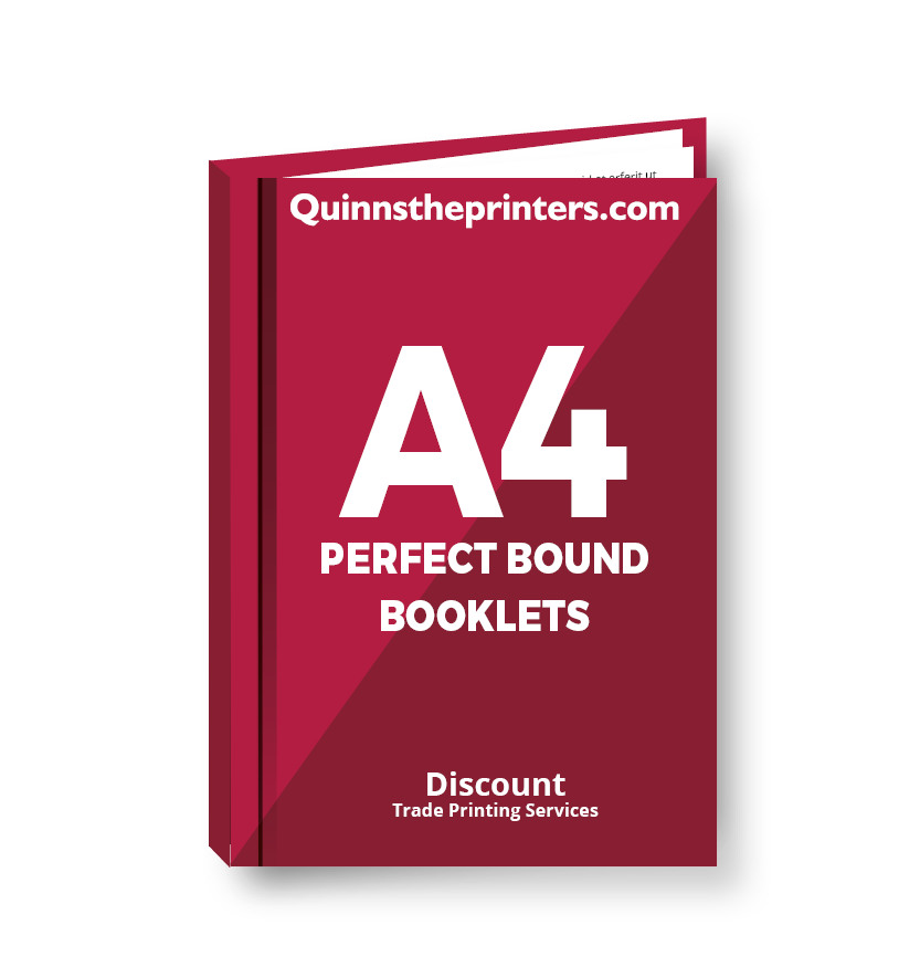 A4 Perfect Bound Booklets Heavy Cover Printing