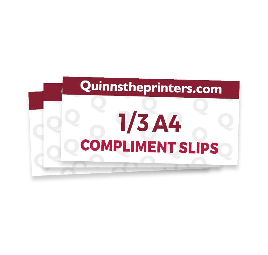 1/3 A4 Compliment Slip Printing