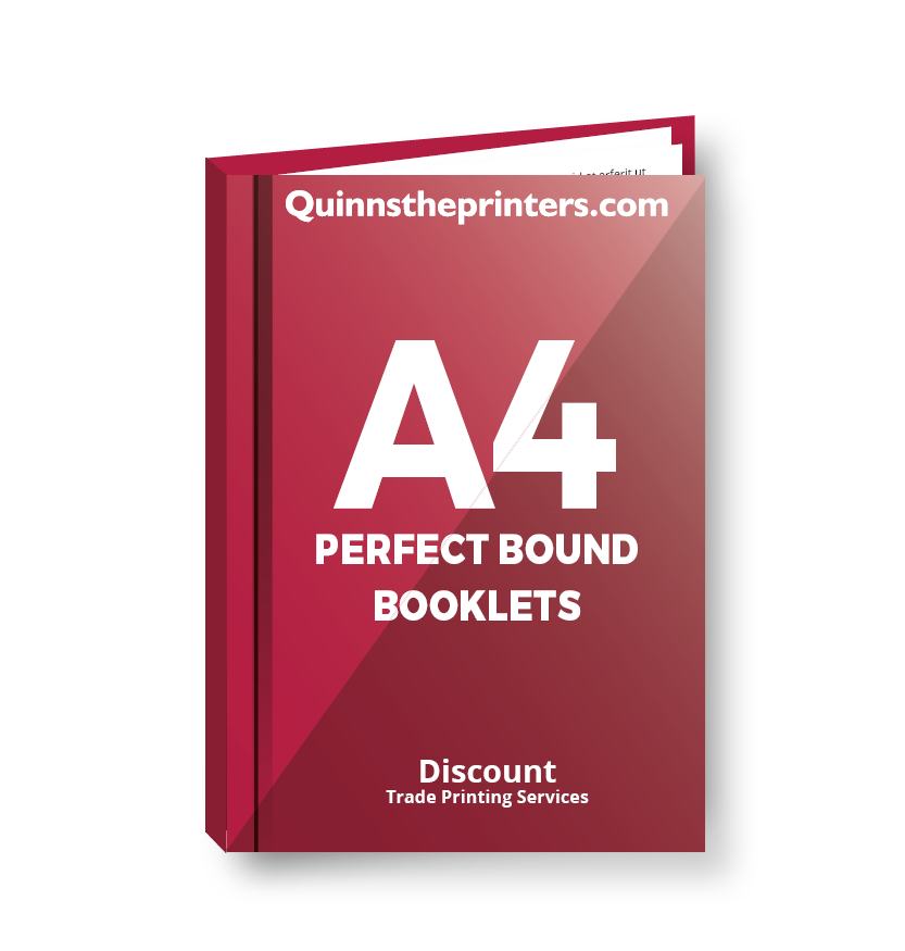A4 Perfect Bound Booklets Heavy Cover Gloss Laminated Printing