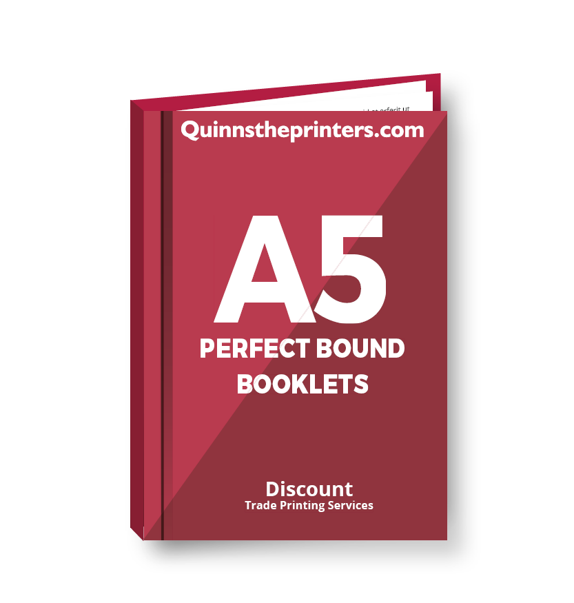 A5 Perfect Bound Booklets Heavy Cover Matt Laminated Printing