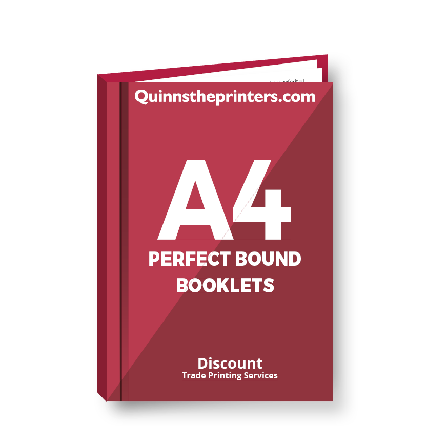 A4 Perfect Bound Booklets Heavy Cover Matt Laminated Printing