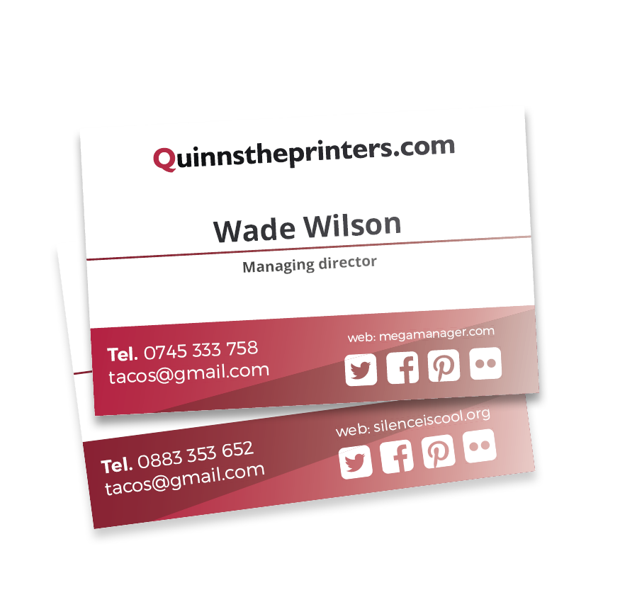 Business Cards Gloss Laminated Printing