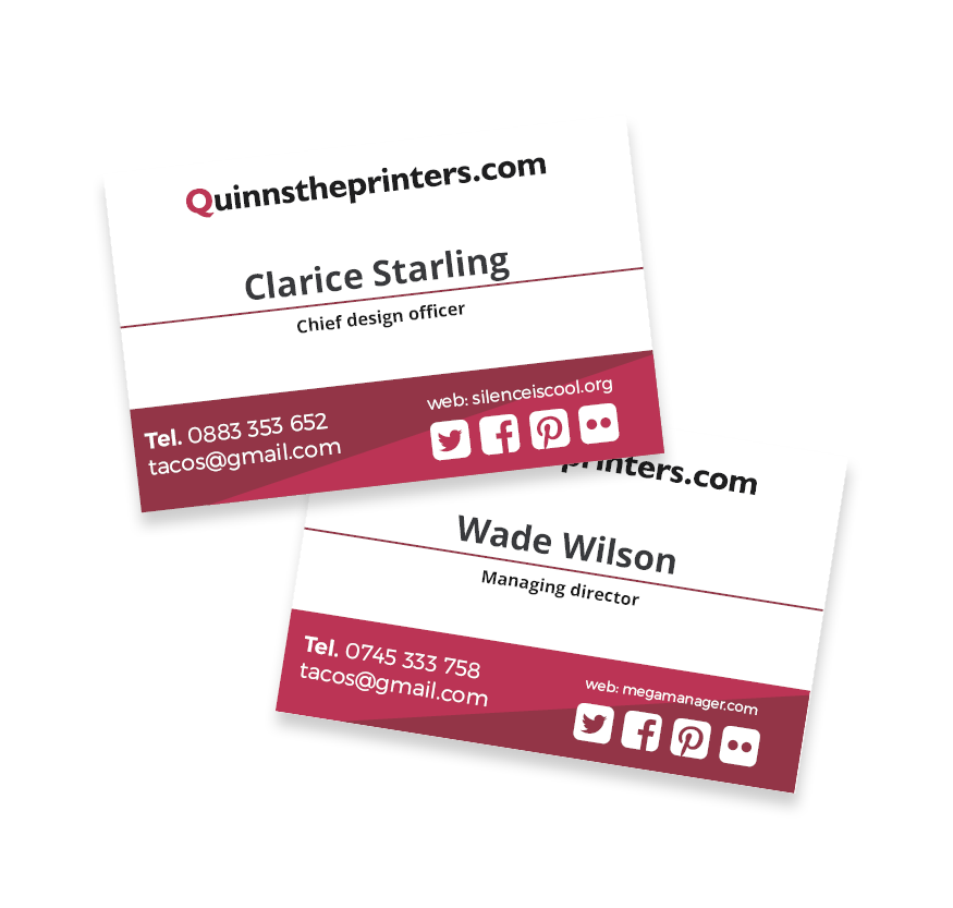 Business Cards Matt Laminated Printing