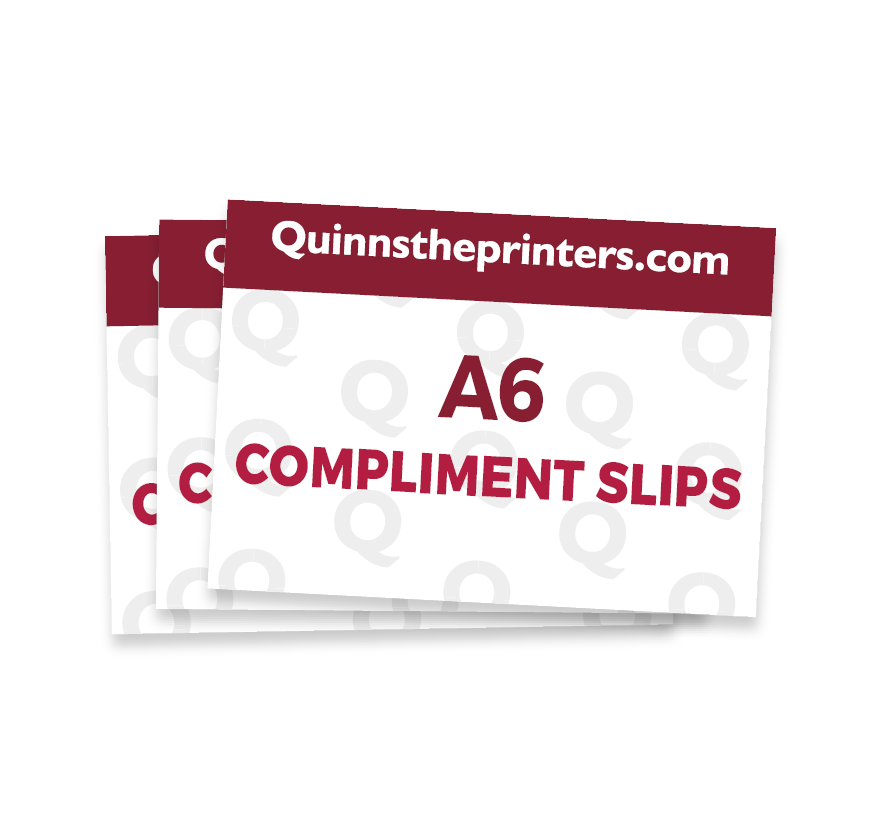 A6 Compliment Slip Printing