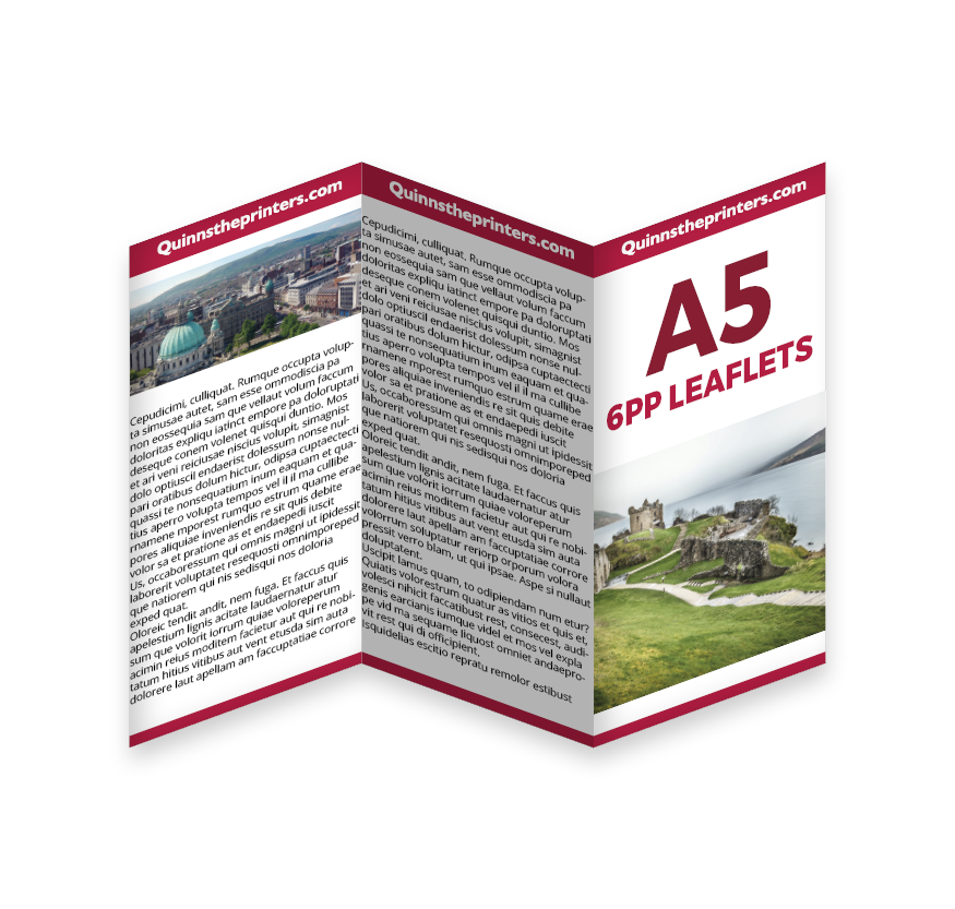 6pp A5 Leaflet Printing