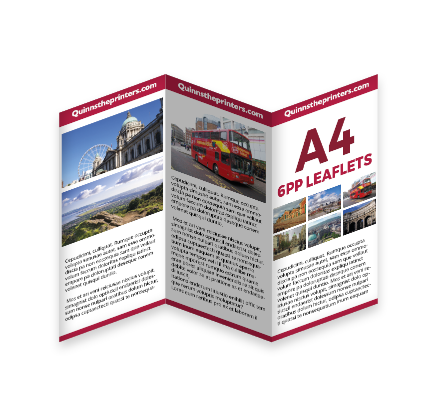 6pp A4 Leaflet Printing