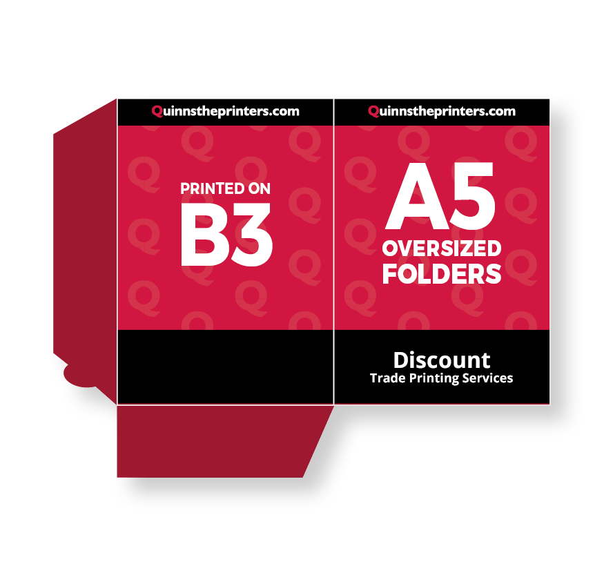 A5 Oversized Folders Printed On B3 Printing