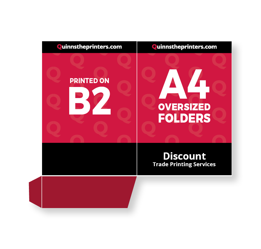A4 Oversized Folders Printed On B2 Printing