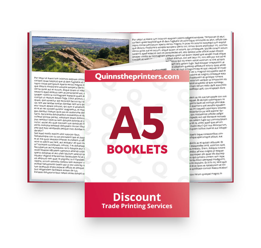 A5 Booklets Heavy Cover Printing
