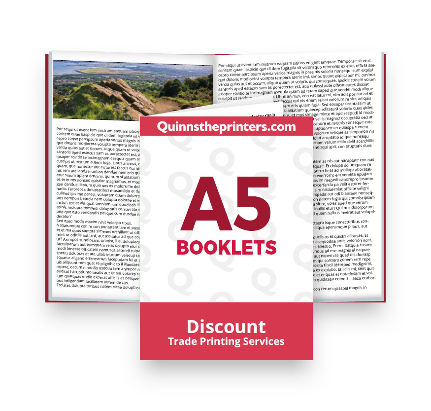 A5 Booklets Heavy Cover Matt Laminated Printing