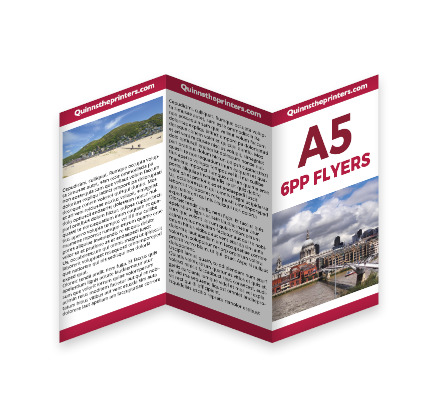 6pp A5 Flyers Printing