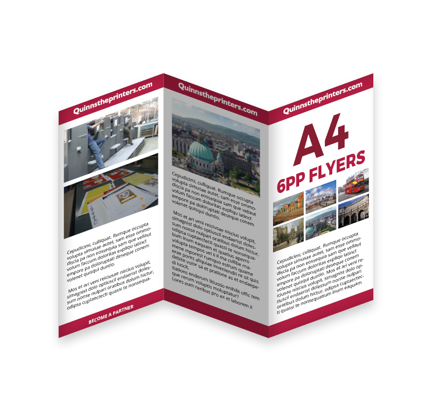 6pp A4 Flyer Printing