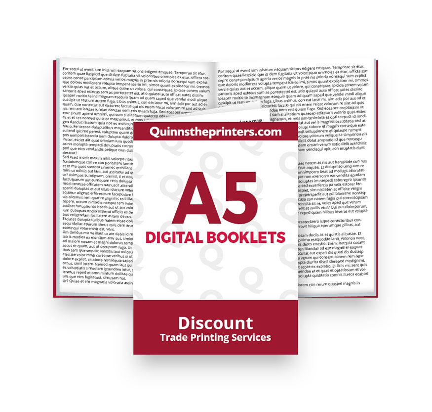 A5 Digital Booklets Self Cover Printing