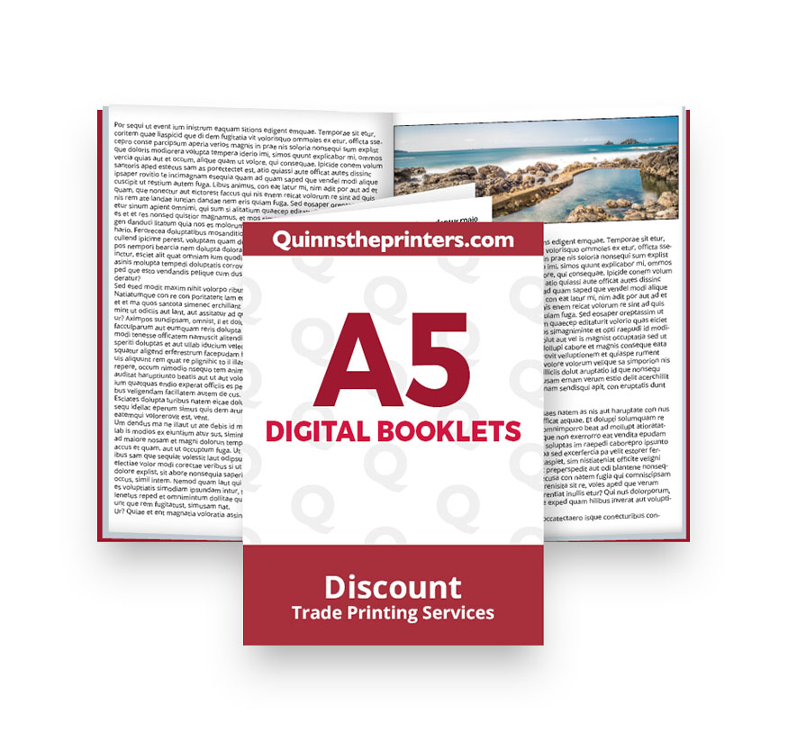 A5 Digital Booklets Heavy Cover Printing