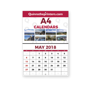 A4 Calendar Hole Drilled Trade Printers