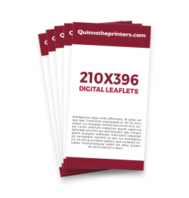 210x396mm Digital Leaflets Trade Printers