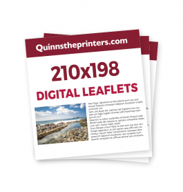 210x198mm Digital Leaflets Trade Printers