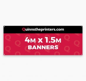 Banners 4m x 1.5m Trade Printers