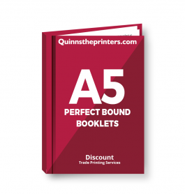 A5 Perfect Bound Booklets Heavy Cover Trade Printers