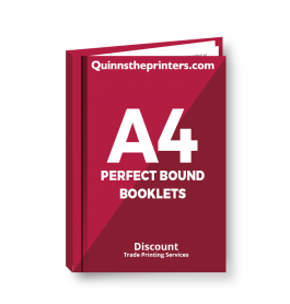A4 Perfect Bound Booklets Heavy Cover Trade Printers