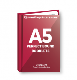 A5 Perfect Bound Booklets Heavy Cover Gloss Laminated Trade Printers