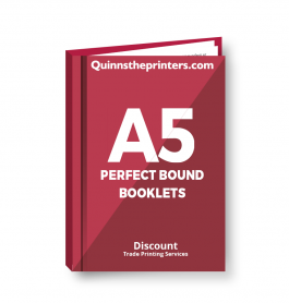 A5 Perfect Bound Booklets Heavy Cover Matt Laminated Trade Printers