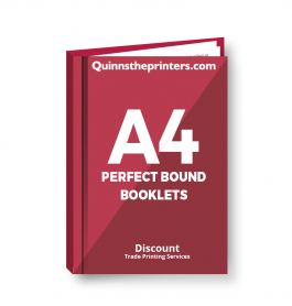 A4 Perfect Bound Booklets Heavy Cover Matt Laminated Trade Printers