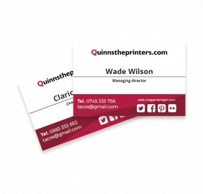 Cheap business card printing for trade quinnstheprinters business card printing reheart Images
