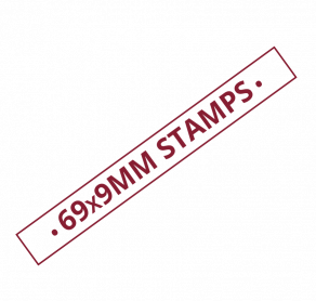 69x9mm Self Inking Stamps Trade Printers