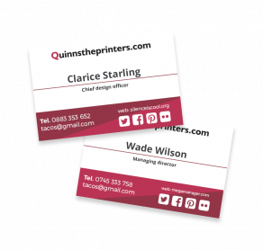 Business Cards Matt Laminated Trade Printers
