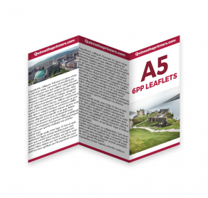 6pp A5 Leaflets Trade Printers