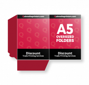 A5 Oversized Folders Gloss Laminated Trade Printers