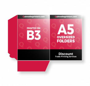 A5 Oversized Folders Printed on B3 Gloss Laminated Trade Printers