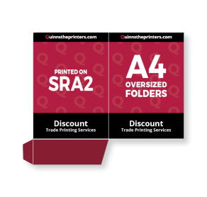 A4 Oversized Folders Printed On SRA2 Trade Printers
