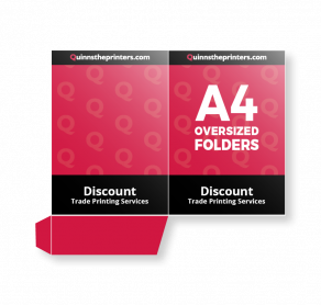 A4 Oversized Folders Gloss Laminated Trade Printers