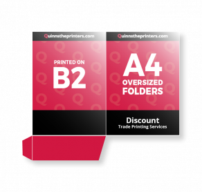 A4 Oversized Folders Printed On B2 Gloss Laminated Trade Printers