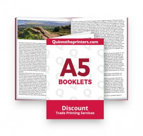 A5 Booklets Heavy Cover Gloss Laminated Trade Printers