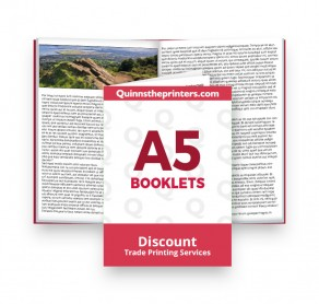 A5 Booklets Heavy Cover Matt Laminated Trade Printers