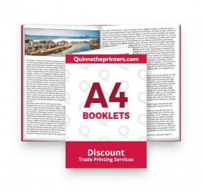 A4 Booklets Heavy Cover Trade Printers