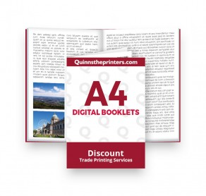 A4 Digital Booklets Self Cover Trade Printers