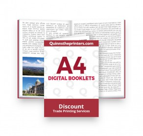 A4 Digital Booklets Heavy Cover Trade Printers
