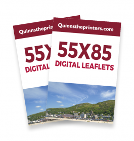 55x85mm Digital Leaflets Trade Printers
