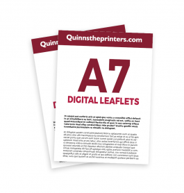 A7 Digital Leaflets Trade Printers